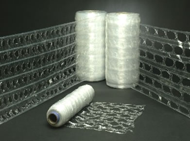 3 rolls of vented pallet wrap